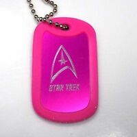 Star Trek Hot Pink Key Chain 4 Chain Dog Tag Aluminum / Rubber Edge Edg-0129