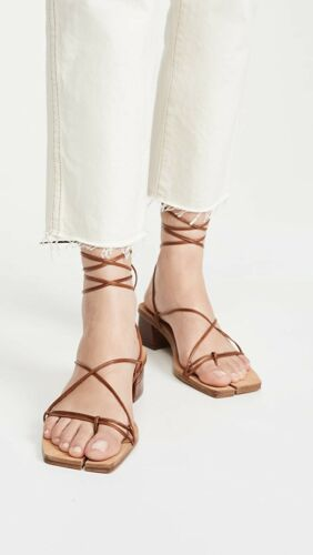 Miista Cimarron Sandals Clay Croc Brown Croc Leath