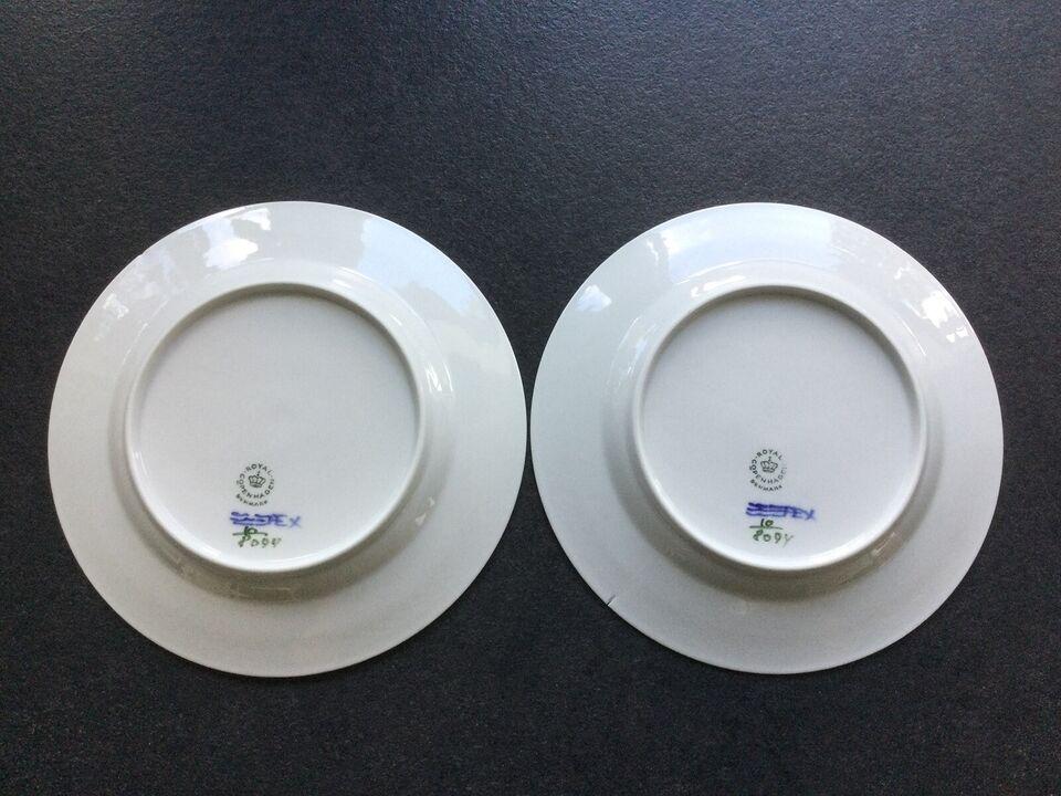 Porcelæn, tallerken, royal copenhagen