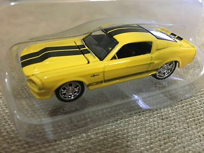 1967 FORD Mustang Shelby GT500 Yat Ming Scale 1:64 Diecast Model Yellow NO.64025
