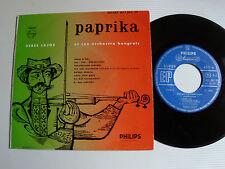"""VERES LAJOS & son orchestre hongrois: PAPRIKA 7"""" EP 8 tracks 1960 PHILIPS 422287"""