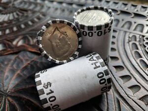 Unsearched-Half-Dollar-Coin-Roll-Bank-Sealed-Lot-Possible-Silver-Franklin