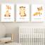 Safari-jungle-animaux-Nursery-Imprime-Set-de-3-Chambre-de-bebe-photos-Wall-Art-Decor miniature 6