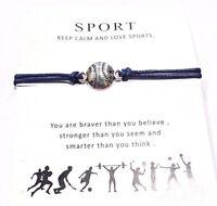 Silver Charm - Sports Baseball / Softball Bracelet