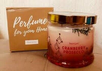 Partylite CRANBERRY PROSECCO SIGNATURE 3-wick JAR CANDLE  BRAND NEW
