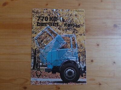 Aufstrebend Prospekt Brochure Lkw Berliet 770 Kb 1975 Deutsch 1a Zustand #