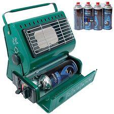 Portable Butane Gas Heater + 4 Gas Refills Outdoor Garden Camping Fishing Party