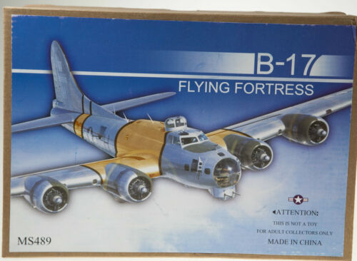 B17 FLYING FORTRESS PLANE TIN TOY RETRO WIND UP WORK COLLECTABLE