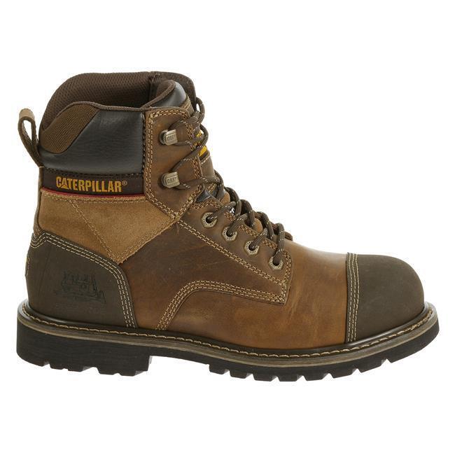 Caterpillar Men's P90440 Traction 6 Inch Steel Toe Work Boot in Dark Beige