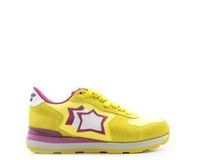 bc50bed141a2 Caricamento dell'immagine in corso Scarpe-ATLANTIC-STARS-Donna-Sneakers -Trendy-GIALLO-Scamosciato-