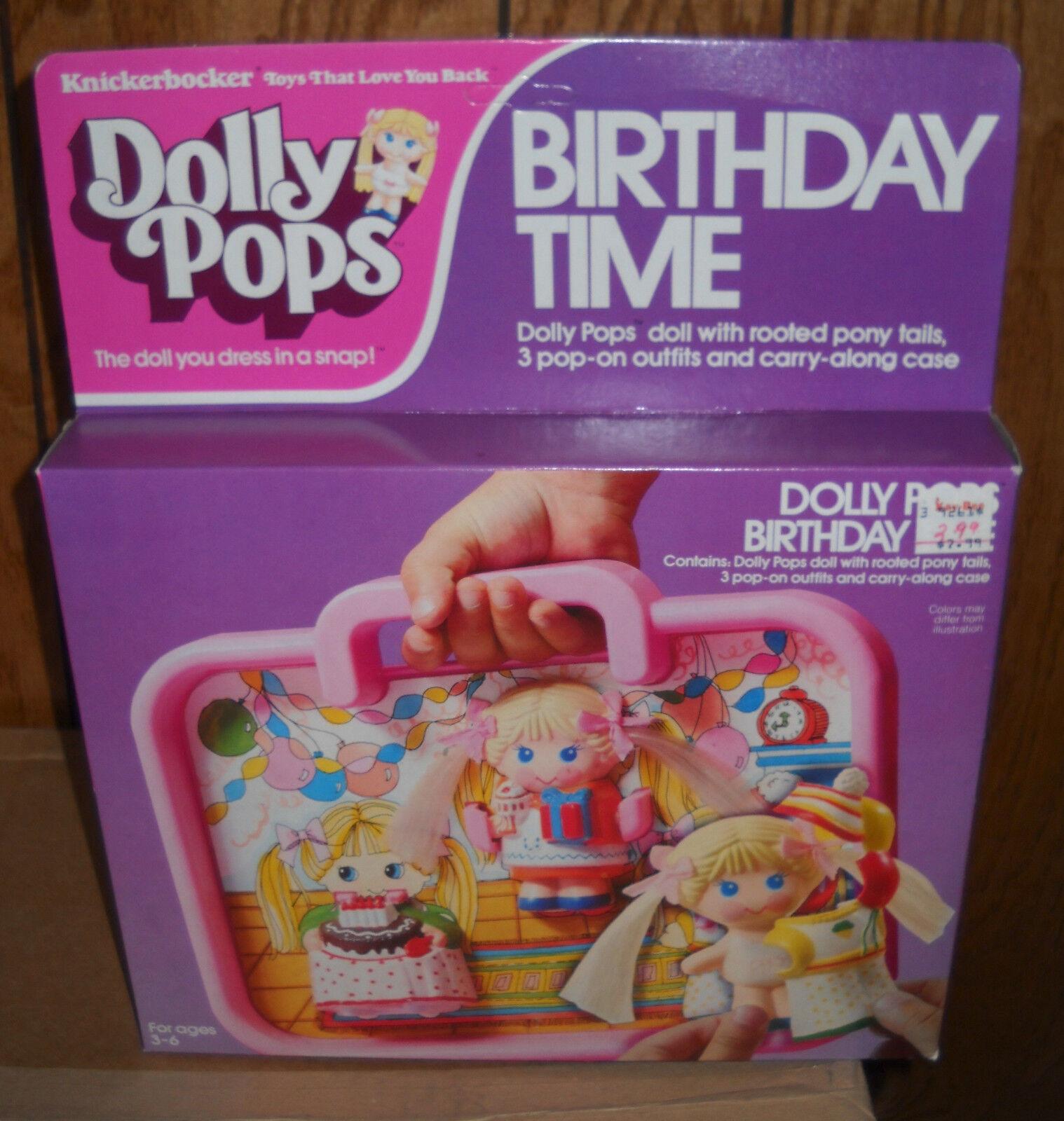 Nuevo en Caja Vintage Knickerbocker Dolly Pops Tiempo De Cumpleaños