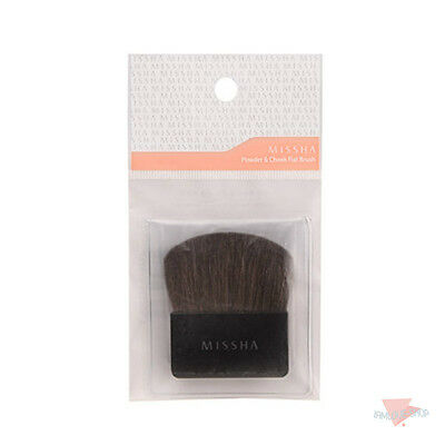 [Missha] Powder & Cheek Flat Brush 100% Natural Soft Blush Tool Easy to carry