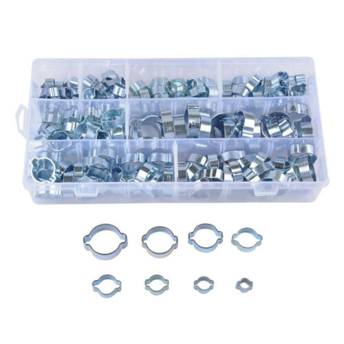 Double Ear Clamps O Clips Mikalor Water Fuel Air Hose Assortment Box x160