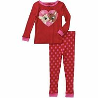 Rudolph Infant Toddler Girl Red Snug Fit Pajama Set Clarice And Rudolph 24m