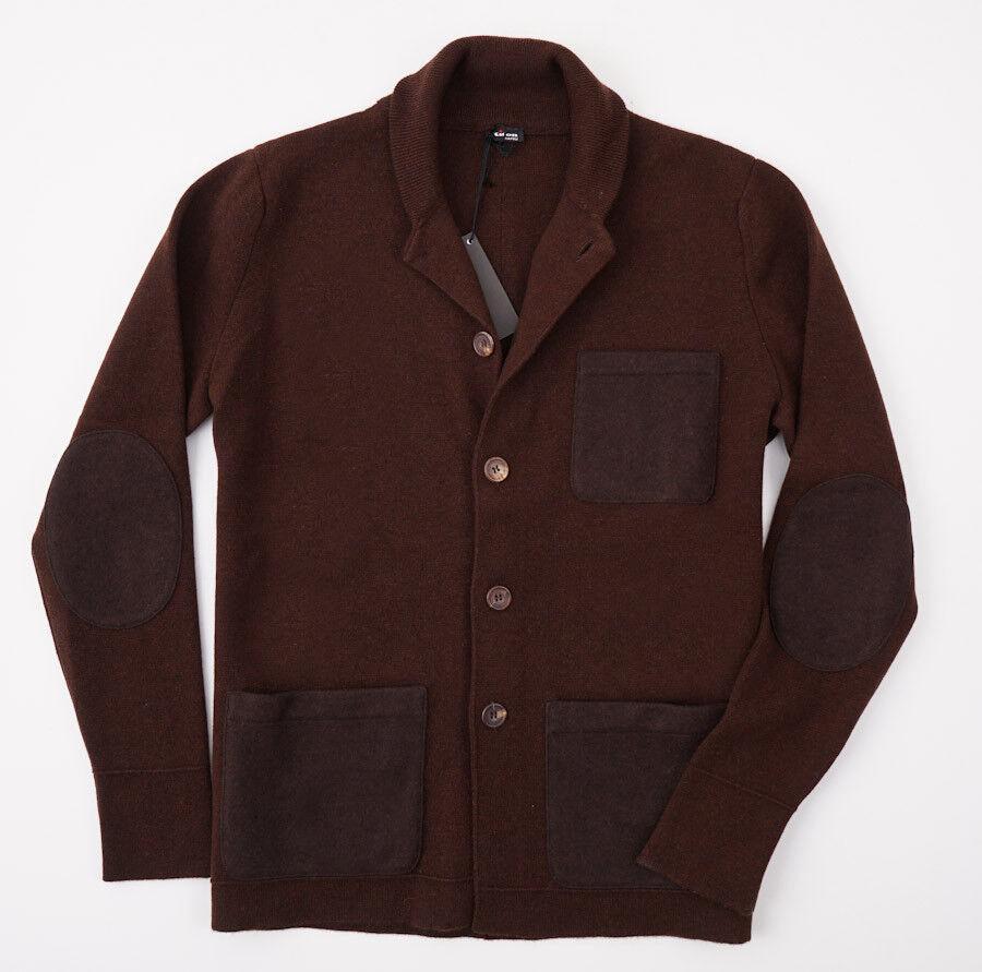 NWT 3250 KITON 'Regal Cashmere' Blazer-Style Cardigan Sweater M (Eu 50)