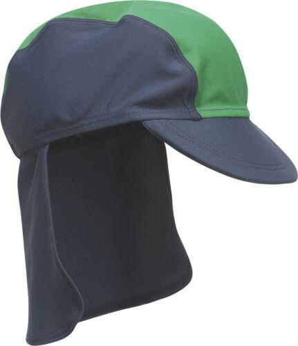 Playshoes Mütze Sonnenschutz blau//grün Polyamid UV-Schutz Polyamid