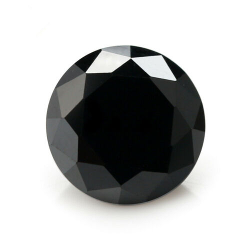 Black Sapphire 3.16CT 8MM Round Cut AAAAA VVS Loose Gemstone