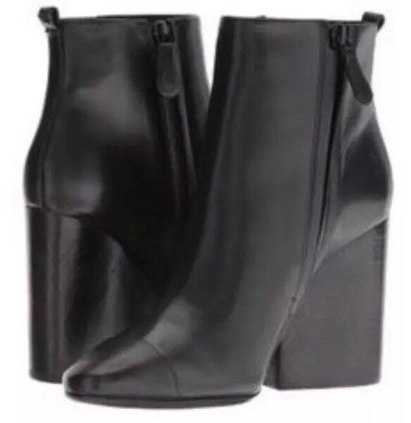 NIB Tory Burch Grove 100MM Size 9.5 Black Leather Ankle Boot Bootie  450