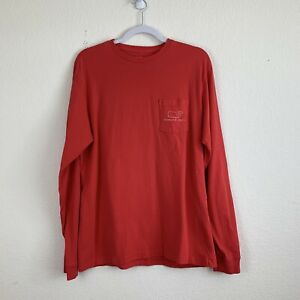 Vineyard-Vines-Men-s-Solid-Red-Long-Sleeve-Whale-Graphic-Tshirt-S