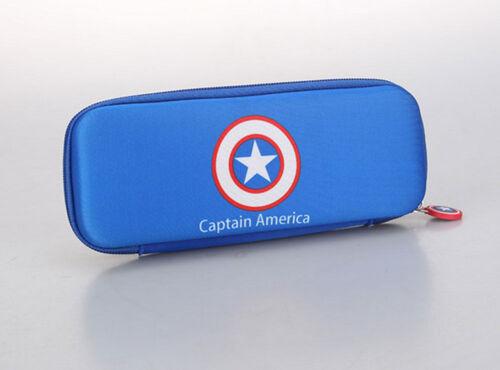 Marvel America Captain Pencil Case Spiderman Storage Students Stationery Pen Box