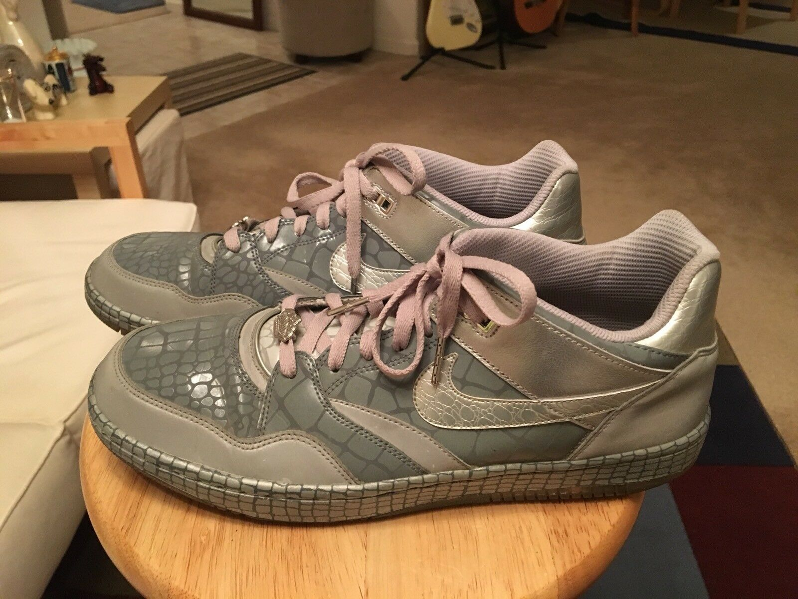 Nike Sky Force 88 Low Mighty Crown Gray/Metallic Silver Mens US12 Athletic Shoes