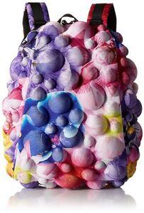 Charmant Madpax Bubble Flower Power Demi-sac à Dos 3d Fleurs Bleu Sac à Dos-afficher Le Titre D'origine