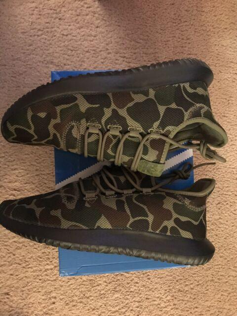 adidas Originals TUBULAR SHADOW Knit CAMO Green Brown Black SHOES CP8682 c1 NEW