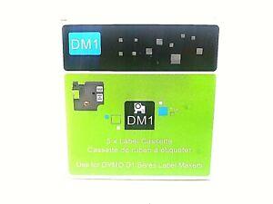 Clear DM1 5 pack Label Tape Cassette RL-DY 45010 12mm  7m Black