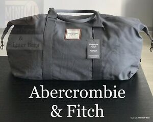 Details About Abercrombie Fitch Mens Duffle Holdall Travel Bag Grey Brand New Sealed