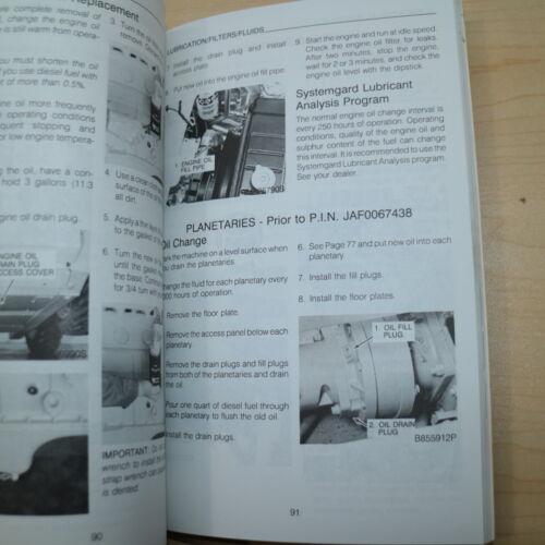 CASE 1845C Skid Steer Uni Loader Owner Operator Maintenance Manual book safety