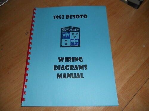 1953 DESOTO WIRING DIAGRAMS SCHEMATICS MANUAL | eBay