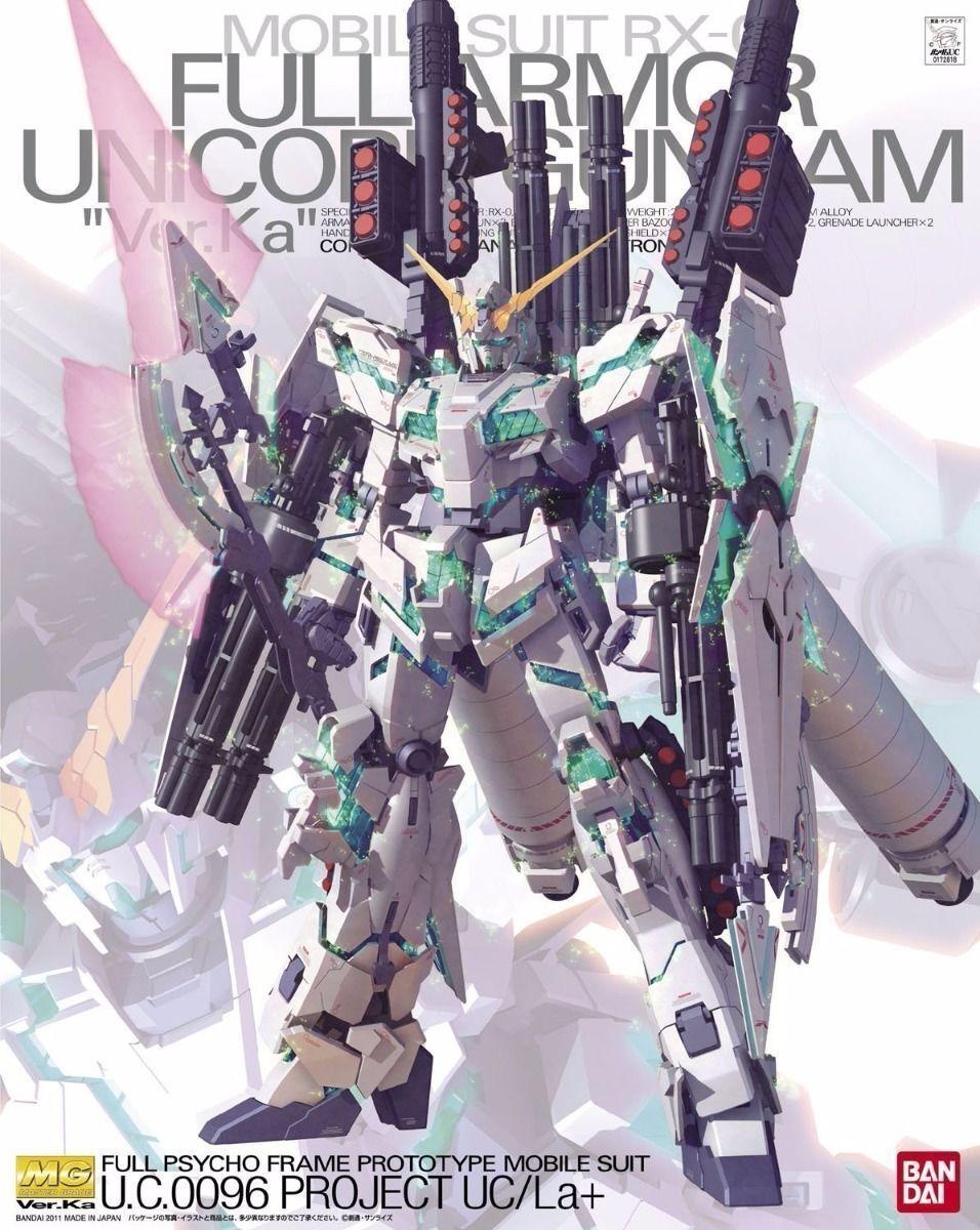 Bandai Mg 1 100 Rx-0 Full Armor Unicorno Gundam Modello Plastica Kit Gundam UC