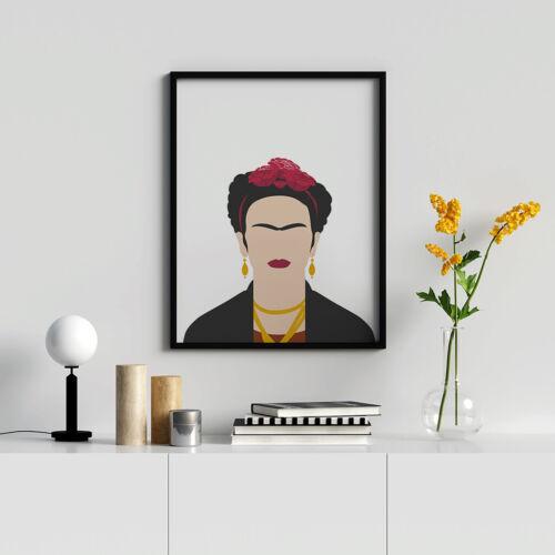 Inspirational Women Frida Art Frida Kahlo Shilouette Print Female Empowerment