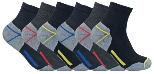 Mens Ultimate Heavy Duty Cushioned Cotton Low Cut Quarter Ankle Work Boot Socks