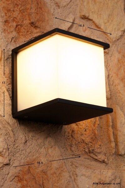 Lampada da esterno Design Angolare Vetro Applique da giardino Moderno NEW 41309