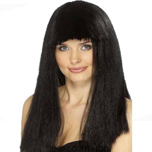 Parrucca Paggetto Nero Parrucca Frangia anni/'70 anni/'70 Parrucca-Donna Costume