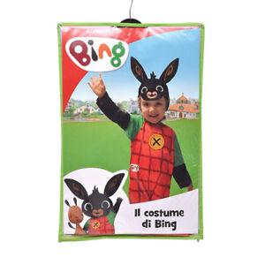 Costume carnevale cartone animato bing coniglietto per bambini ebay