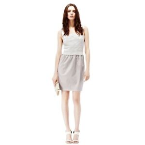 pretty cheap low price sale online here Reiss Women's Sleeveless Abigail Mesh Lace Gray Sheath Dress ...