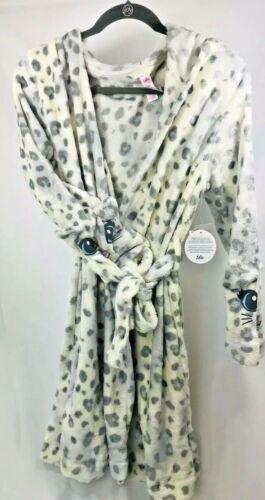 Justice Girls Bath Robe Sz 18//20 Snow Leopard SUPER Soft /& Snuggly NEW!