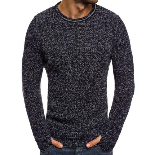 OZONEE BREEZY B9038S Herren Pullover Langarmshirt Sweater Figurbetont Basic MIX
