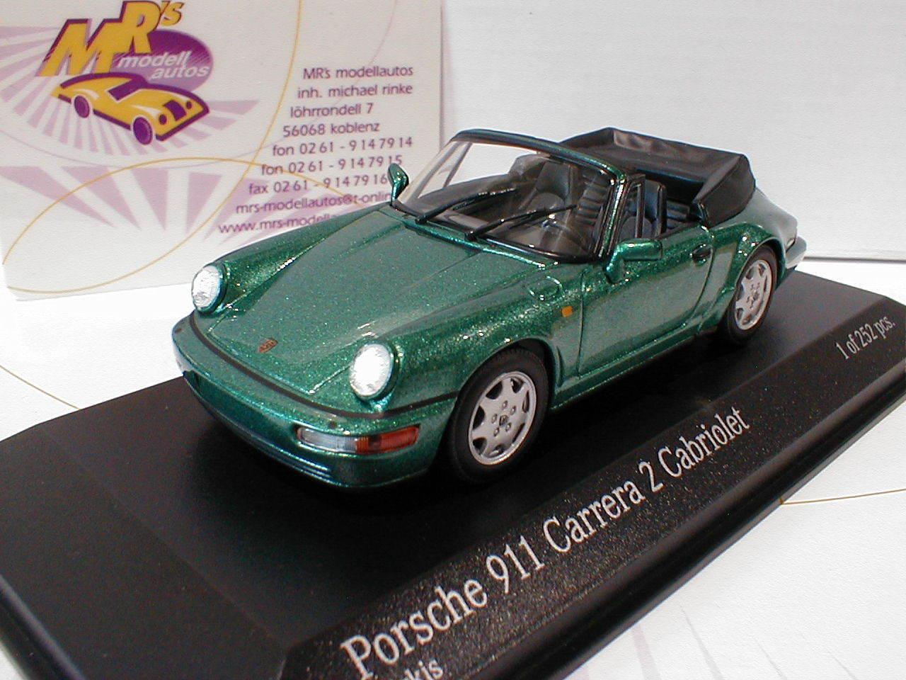 Minichamps Minichamps Minichamps 430067332   Porsche 911 (964) Carrera 2 Cabriolet Baujahr 1990 1 43  | Der neueste Stil  4ccd9a