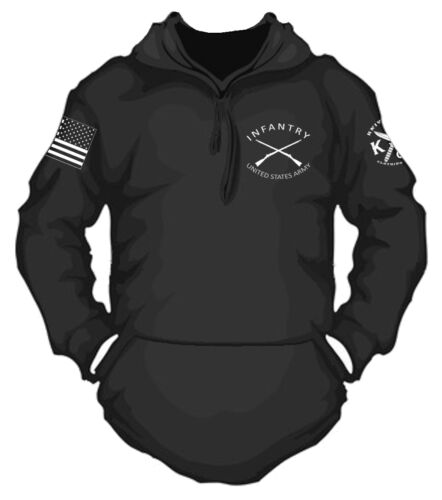 US Army Infantry Hooded Sweatshirt I Knives Out Clothing I Patriot I Veteran