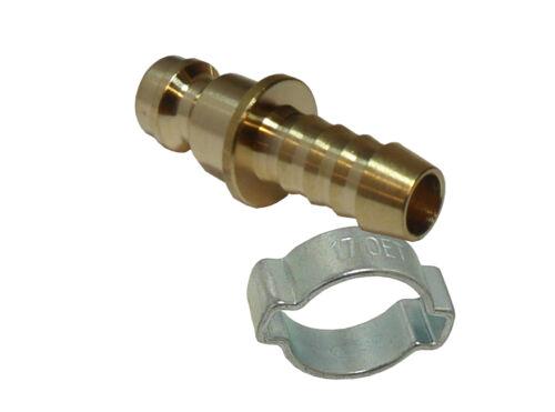 Kupplungsstecker NW5-4 oder 6 mm Schlauchtülle,wahlweise mit oder ohne Schelle