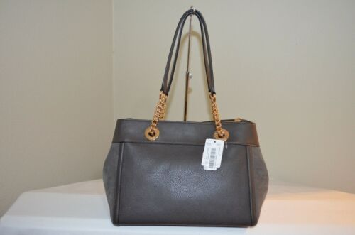 20165 Satchel Leathers Carryall Chestnut Mixed Tote Nwt395 Coach Edie Turnlock f7b6yg