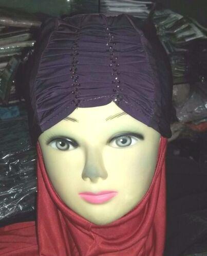 Bonnet Cap Tube Hijab Chimio sous écharpe Casquette Bonnet Abaya cape UK noir nouveau 2018