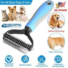 Brave669 Pet Supplies Pet Accessories Stainless Steel Dog Pet Puppy Cat Shedding Grooming Hair Brush Comb Trimmer Pets are Good Friends of Mankind