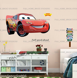 Elegant Image Is Loading XLarge Disney Cars LIGHTNING MCQUEEN Wall Stickers Kids  Part 11
