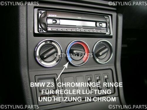 Ventilation Rings Heizungsringe Metal for Regulator in Chrome Suitable BMW Z3
