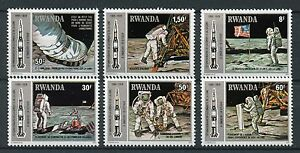 Rwanda-1980-MNH-Apollo-11-Moon-Landing-10th-Anniv-6v-Set-Space-Stamps