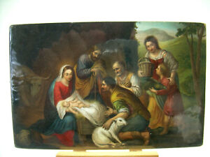 Vintage-Nativity-Postcard-Stengel-amp-Co-Dresden-Jesus-Christmas-Mary